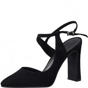 Дамски елегантни сандали на висок ток Marco Tozzi черни