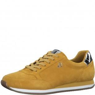 Дамски спортни обувки S.Oliver жълти естествена кожа