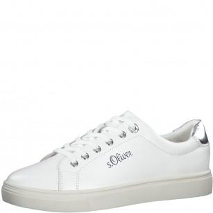 Дамски бели спортни обувки от естествена кожа S.Oliver