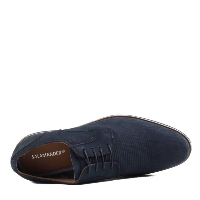 Мъжки елегантни обувки от естественa кожа Salamander сини