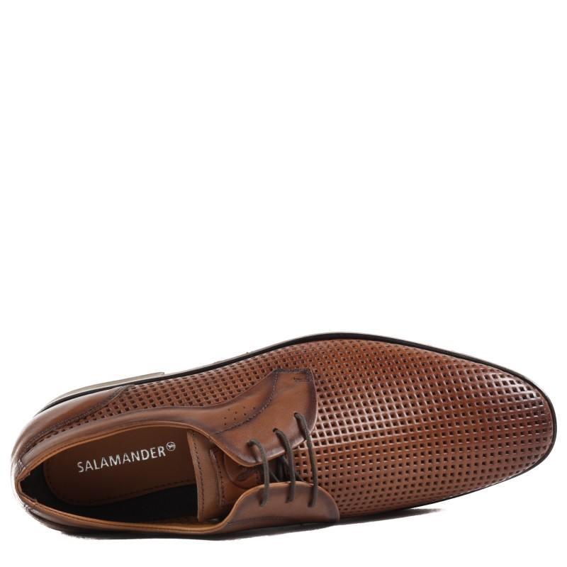 Мъжки елегантни обувки от естественa кожа Salamander кафяви