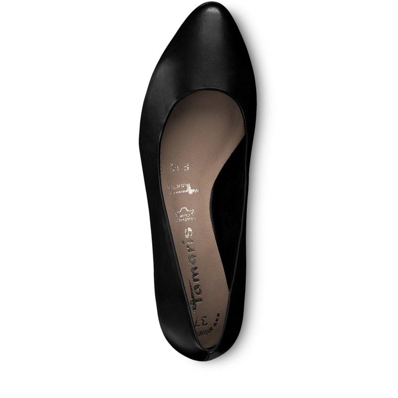 Дамски обувки на нисък ток Tamaris мемори пяна естествена кожа ANTISHOKK ANTISLIDE F1/2