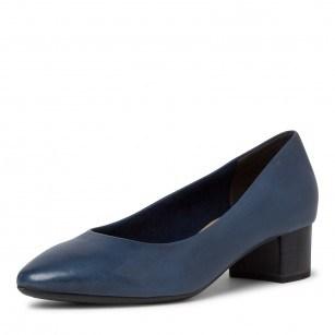 Дамски обувки на нисък ток Tamaris мемори пяна естествена кожа ANTISHOKK ANTISLIDE F1/2 сини
