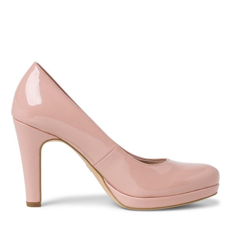 Дамски елегантни обувки на ток Tamaris розови мемори пяна