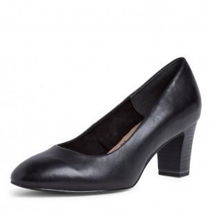 Дамски обувки на ток Tamaris черни естествена кожа ANTISHOKK ANTISLIDE мемори пяна F1/2