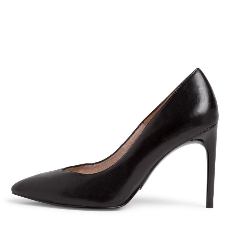 Дамски обувки на висок ток Tamaris мемори пяна естествена кожа черни