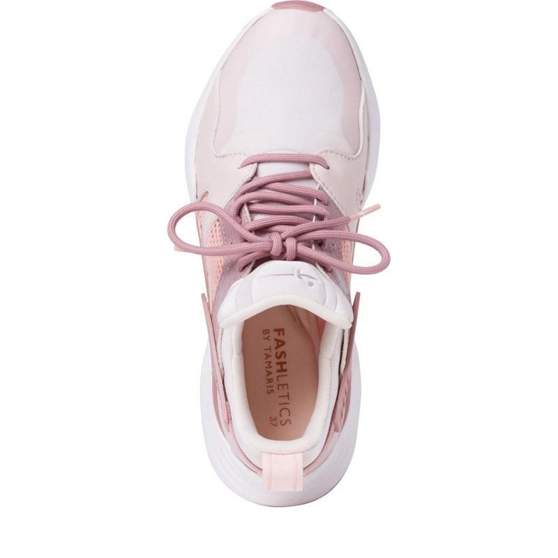 Дамски спортни обувки Tamaris Fashletics с връзки розови