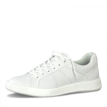 Дамски спортни обувки Tamaris мемори пяна естествена кожа бели