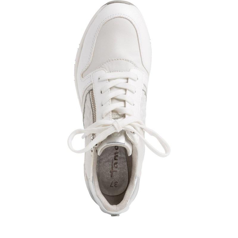 Дамски спортни обувки Tamaris бели на платформа