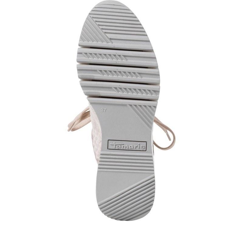 Дамски спортни обувки Tamaris бежови на платформа