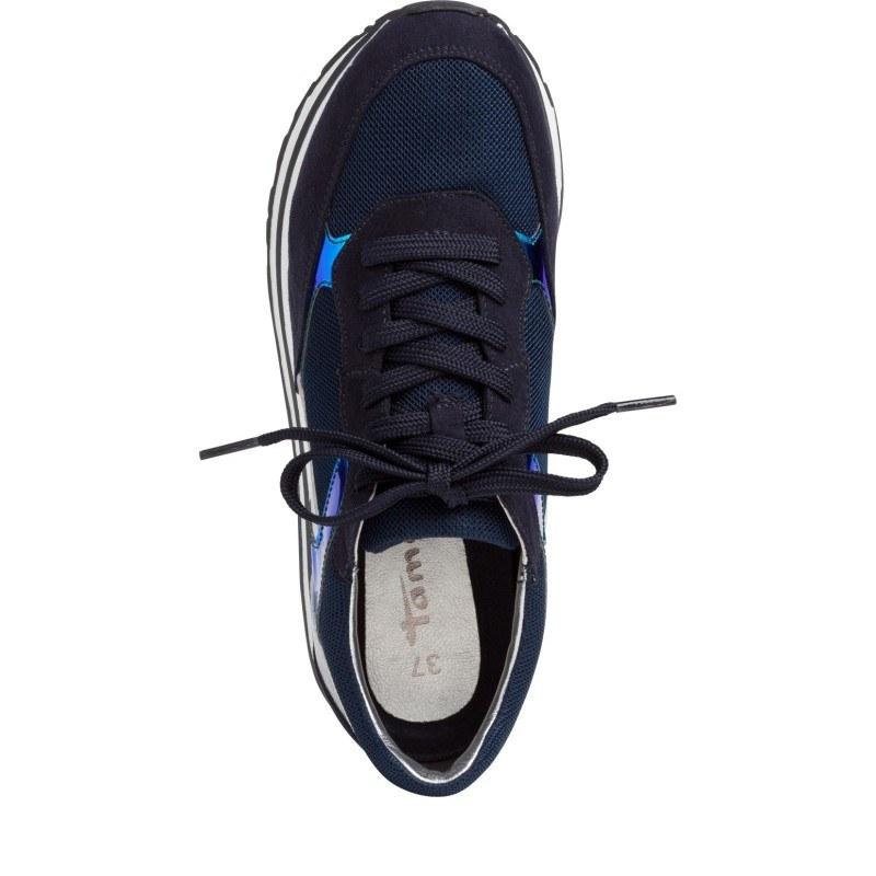 Дамски спортни обувки на платформа Tamaris сини
