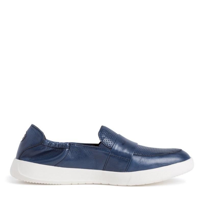 Дамски равни обувки Tamaris мемори пяна естествена кожа сини