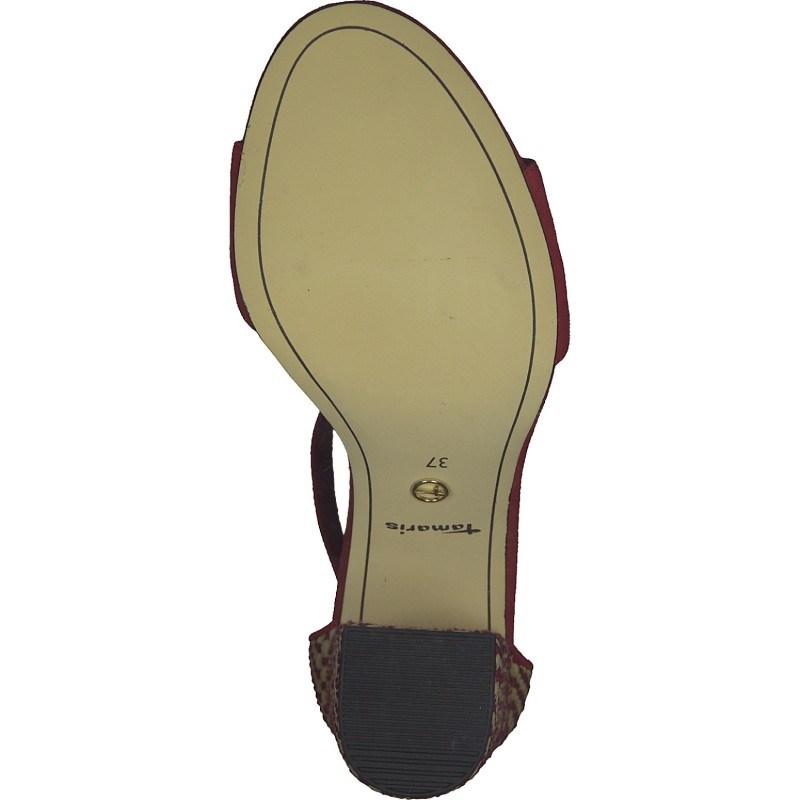 Дамски сандали на ток Tamaris мемори пяна