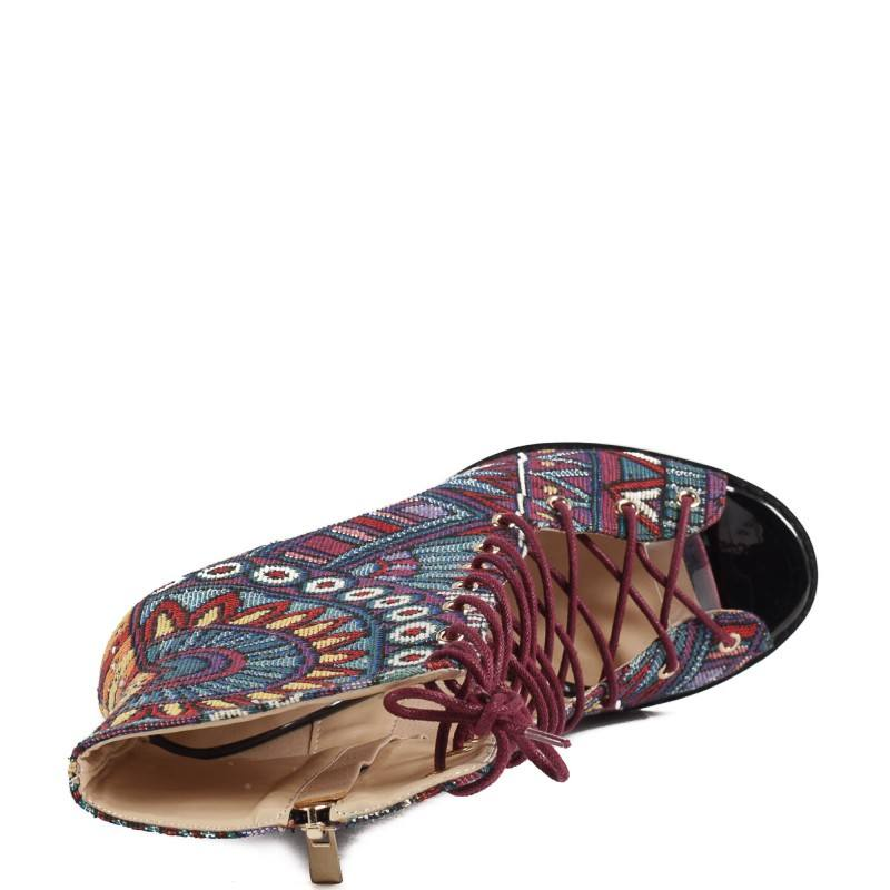 Дамски елегантни обувки на висок ток Yoncy® цветни