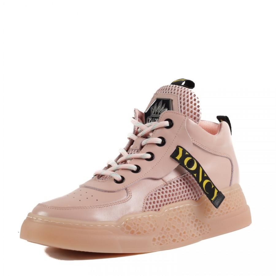 Дамски спортни обувки Yoncy® естествена кожа розови