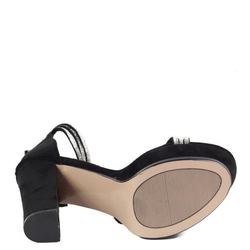 Дамски елегантни сандали на ток Yoncy® черни