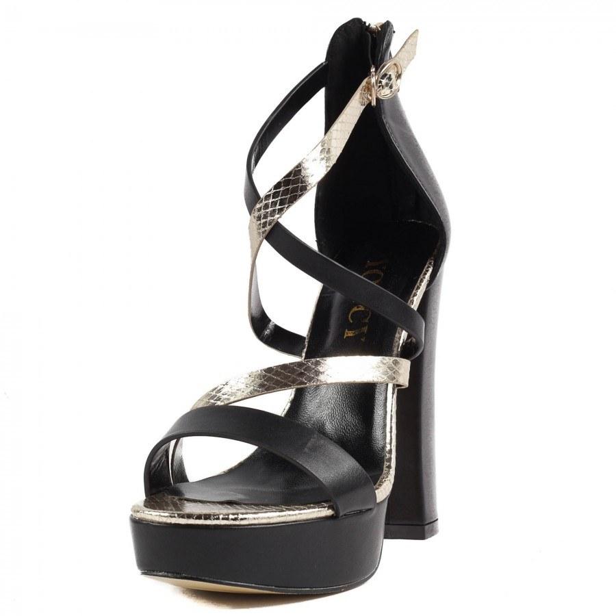 Дамски сандали на висок ток Yoncy® черни