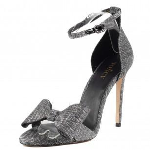 Дамски елегантни сандали на ток Yoncy® сребристи