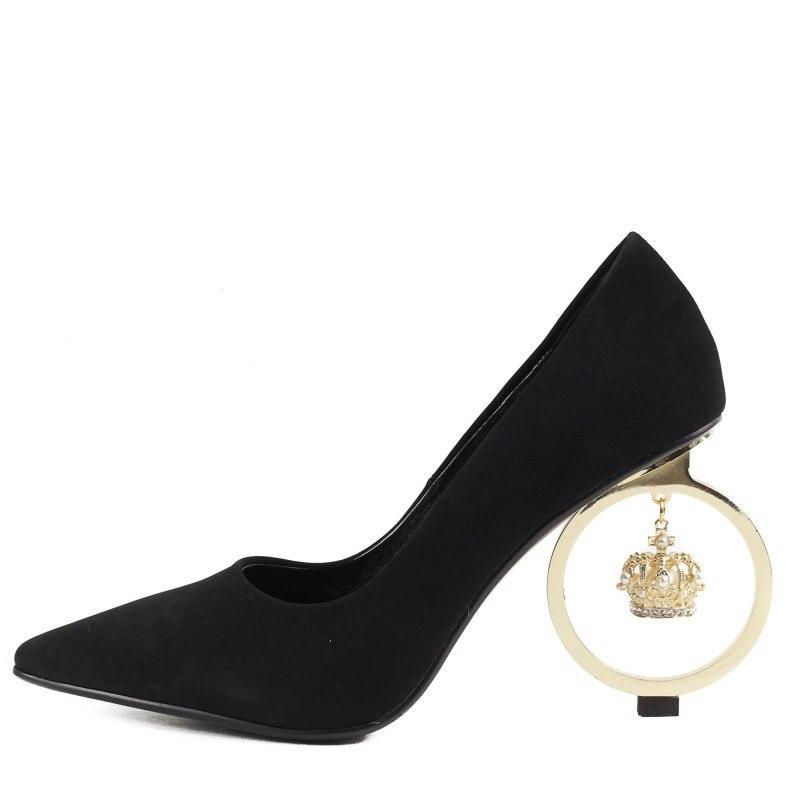 Дамски елегантни обувки на ток Yoncy® черни