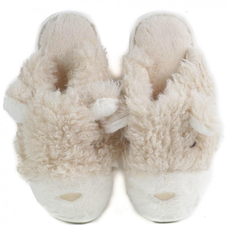 Дамски домашни чехли с пух Yoncy® бежови