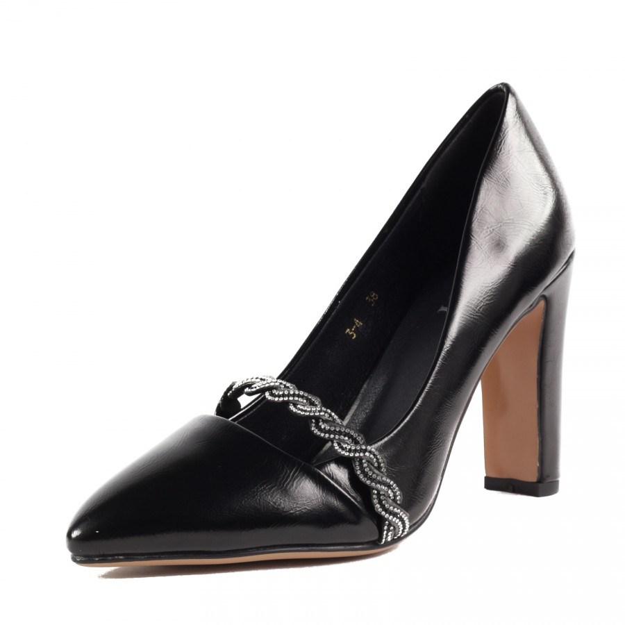 Дамски елегантни обувки на висок ток Yoncy® черни