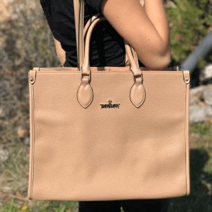 Дамска голяма чанта Yoncy® бежова