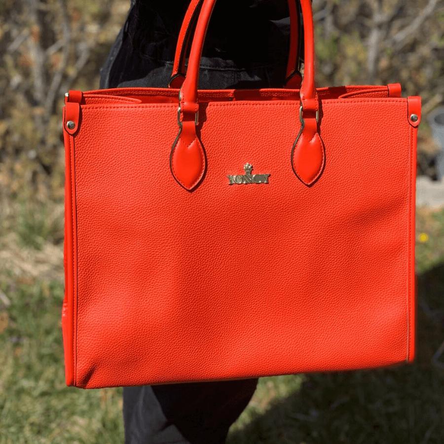 Дамска голяма чанта Yoncy® коралова