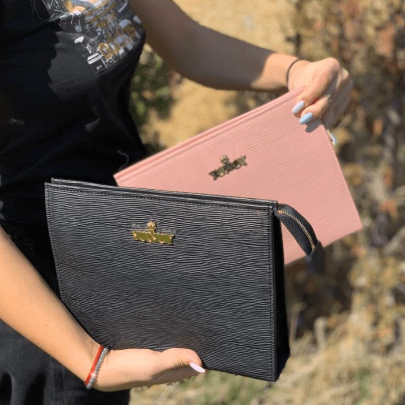 Дамска чанта клъч Yoncy® розова