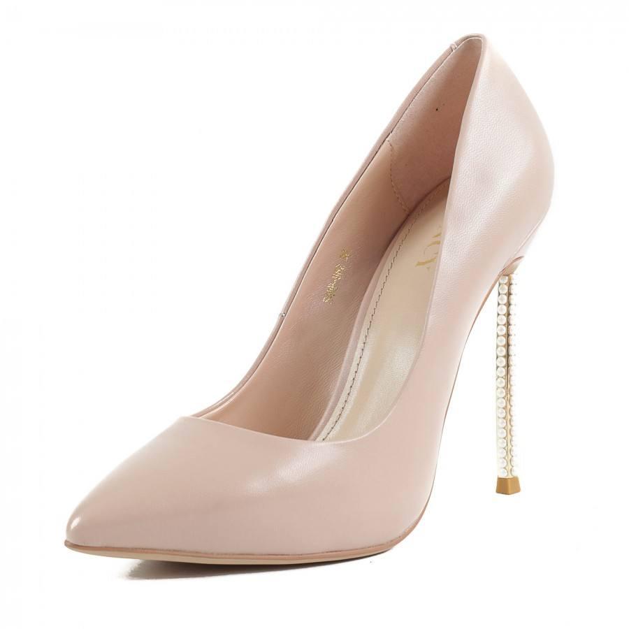 Дамски елегантни обувки на висок ток Yoncy® естествена кожа