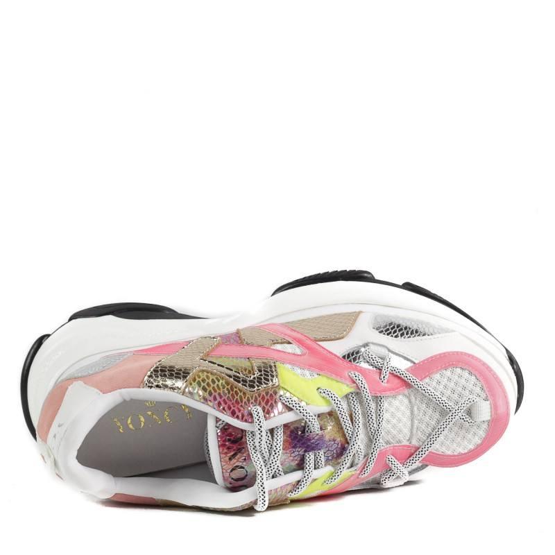 Дамски спортни обувки Yoncy® на платформа бели