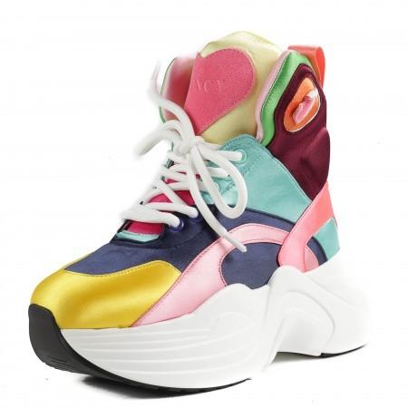 Дамски спортни обувки Yoncy® на платформа цветни