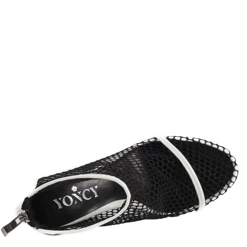Дамски сандали на ток Yoncy® бели