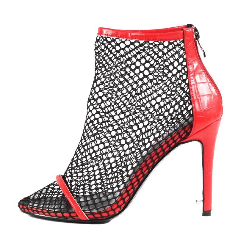 Дамски сандали на ток Yoncy® червени