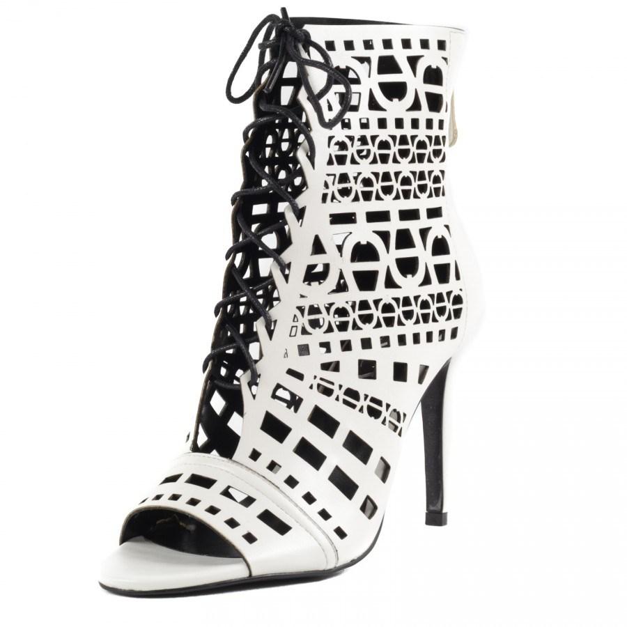 Дамски обувки на ток Yoncy® бели
