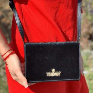 Дамска малка чанта през рамо Yoncy® черна