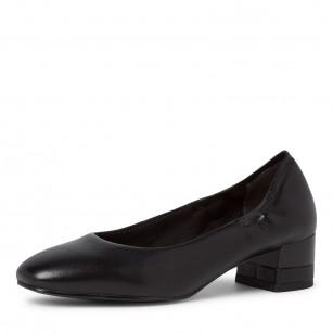 Дамски обувки на нисък ток Tamaris черни естествена кожа ANTISHOKK ANTISLIDE TOUCH IT F1/2
