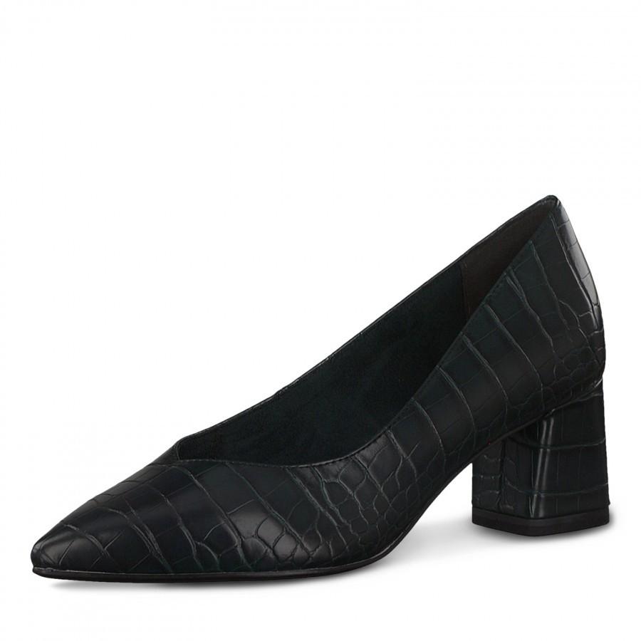 Дамски елегантни обувки на ток Tamaris тъмно зелени  ANTISHOKK ANTISLIDE TOUCH IT