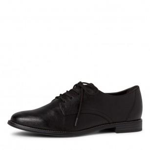 Дамски ежедневни обувки Tamaris с връзки черни TOUCH IT