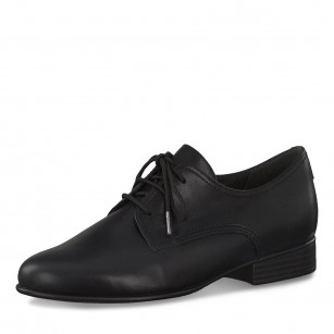 Дамски ежедневни обувки Tamaris естествена кожа черни TOUCH IT