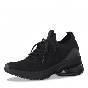Дамски спортни обувки с връзки Tamaris Fashletics черни
