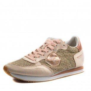 Дамски спортни обувки с връзки B.Basile розови