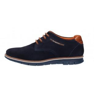 Мъжки ежедневни обувки с връзки Bugatti® Simone сини