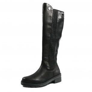 Дамски кожени ботуши Rieker черни X0554-00