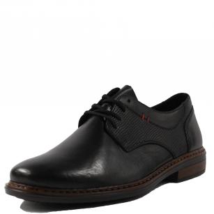 Мъжки ежедневни обувки Rieker Antistress естествена кожа черни 17614-00