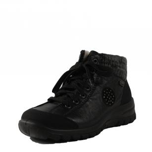 Дамски боти Rieker Tex натурална вълна черни L7110-01