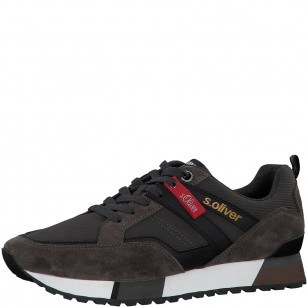 Мъжки спортни обувки S.Oliver естествена кожа сиви
