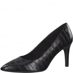 Елегантни дамски обувки с тънък ток S.Oliver So Flex Black Label черни