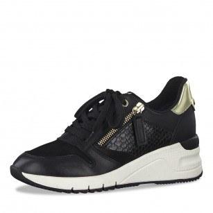 Дамски спортни обувки Tamaris черни на платформа