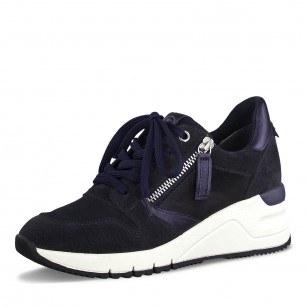 Дамски спортни обувки Tamaris тъмно сини на платформа