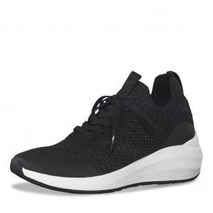 Дамски спортни обувки Tamaris Fashletics мемори пяна черни/сребристи